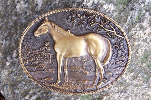 "Buckle ""Horse in Countryside"""