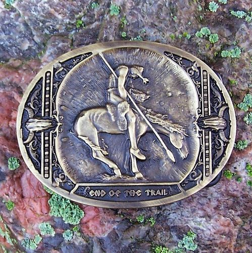 "Montana Silversmiths Buckle ""End Of The Trail"""