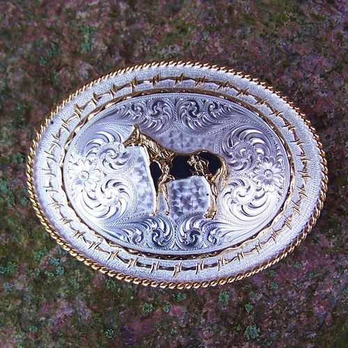 "Buckle Montana Silversmiths ""Lucky Paint"""