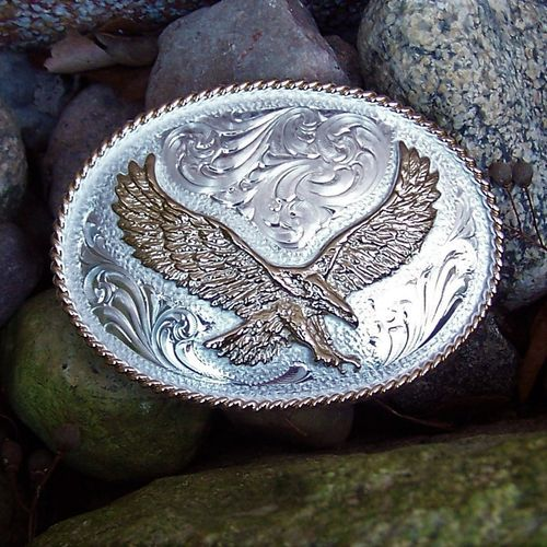 "Montana Silversmiths Buckle ""Golden Eagle"""