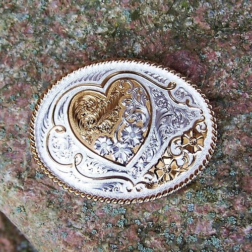 "Montana Silversmiths Buckle ""My Love"""