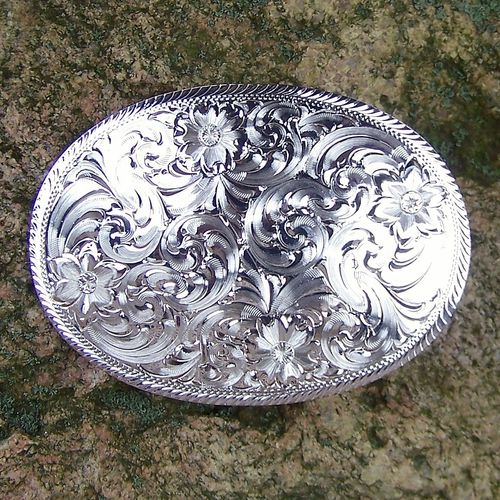 "Buckle ""Fancy Montana"" Original Montana Silversmiths"