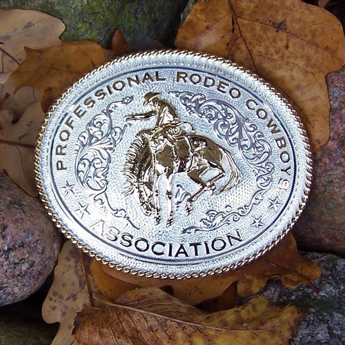 "Montana Silversmiths Buckle ""Rodeo Cowboy"""