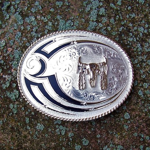 "Montana Silversmiths Buckle ""Indian Symbol"""