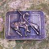 "Montana Silversmiths Brass Buckle ""End Of The Trail"""