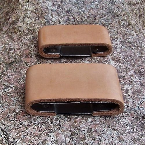 "Blevin Buckle Replacemet Slide ""Vertical - Leather Cover"" in Sizes"
