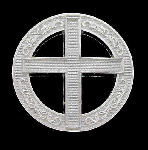 "Concho ""Silver Cross in Circle"" 3/4"""