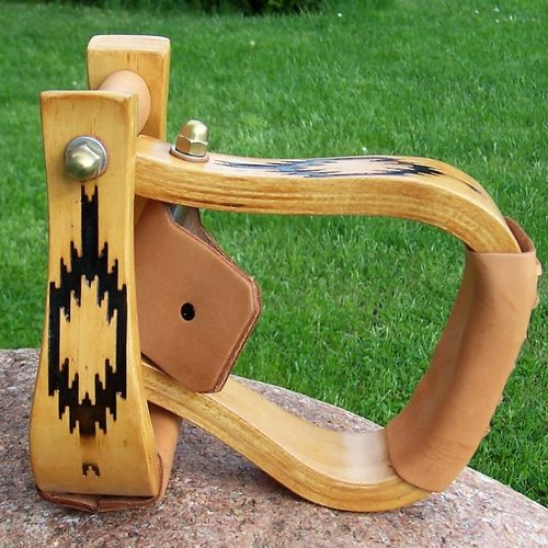 "Wood Stirrups ""Swatch"""