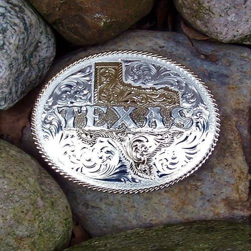 "Montana Silversmiths Buckle ""Texas"""