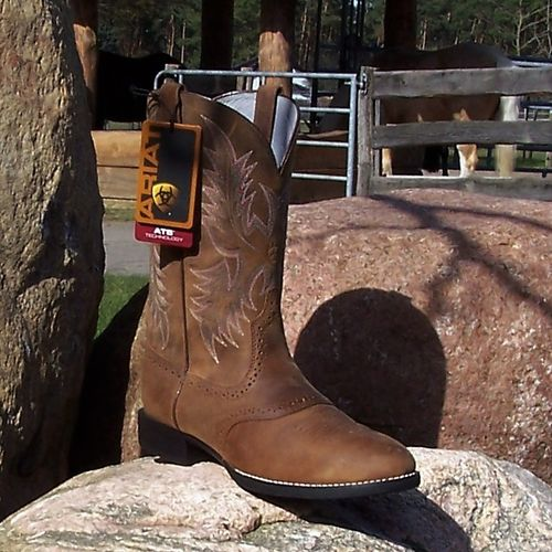 "Women´s Western-Boots Heritage Stockman ""Driftwood Brown"""
