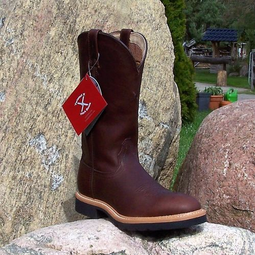 "Women´s Twisted X ""Western-Work-Boots Oiled Brown"""
