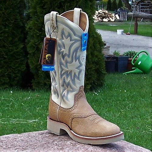 "Women´s Ariat Western-Boots ""Light Brown Shoulder/ Bone"""
