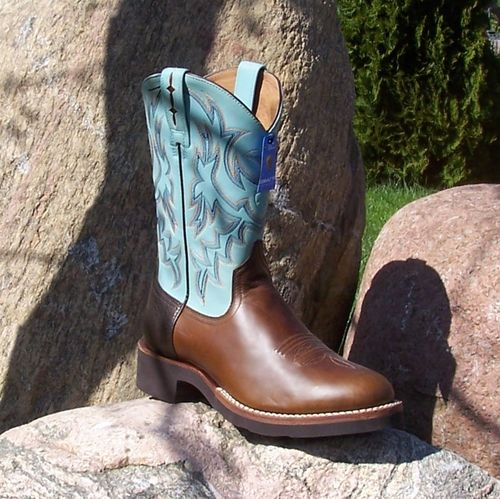 "Men´s Ariat Western-Boots ""Walnut/ Sky Blue"""