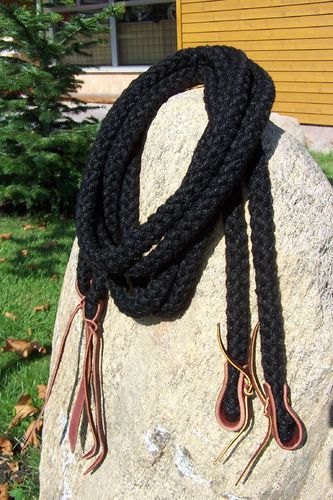 "Split Reins 5/8 ""Black Cotton"""