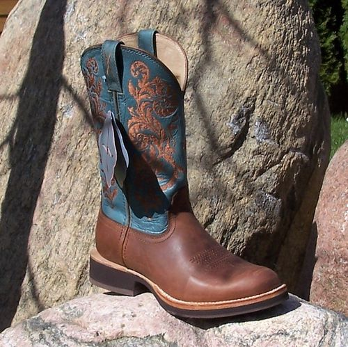 "Women´s Twisted X Western-Boots ""Peanut/ Sky Blue"""