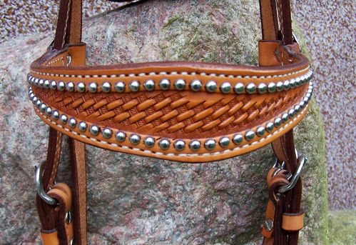 "Show Headstall ""Steel Dots"""
