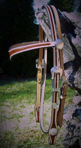 "Designer-Headstall ""Sweet Two-Tone"""