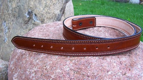 "Handmade Western-Belt ""Running Basket"" to dimension in colors"