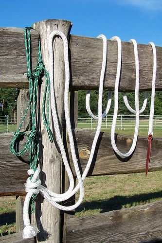 "Horse-Man Set ""Natural Hackamore with Reins"" in Varianten"