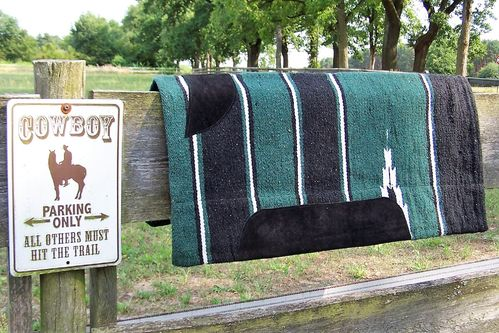 "Sandwich-Pad/ Blanket ""Western Dark Green"""