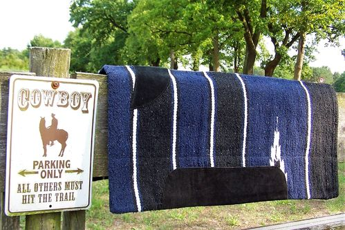 "Sandwich-Pad/ Blanket ""Western Dark Blue"""