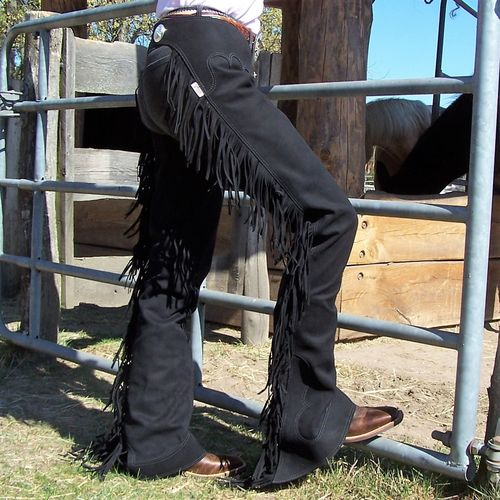 "Show Chaps ""Mikrofaser Black"" in Sizes"