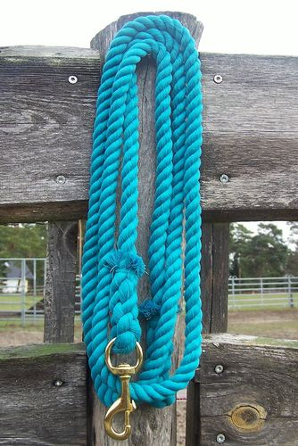 "Lead Rope ""Cotton Turquoise"""