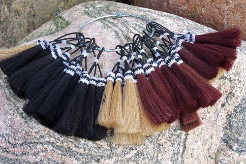 "Tassel aus Pferdehaar ""Only Nature Pair - Colors"""