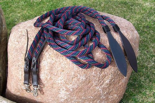 "Split Reins 5/8 ""Braided Threecolor"""