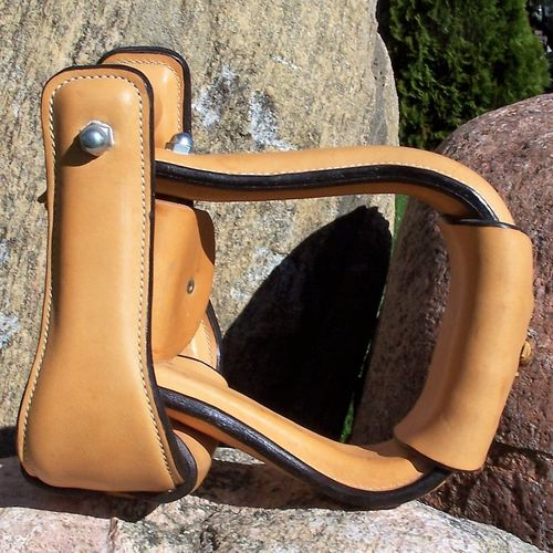 "Leather Stirrups Premium ""Plain Nature Fawn"""