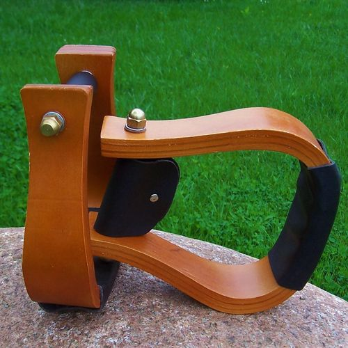"Wood Stirrups ""Basic Dark"""
