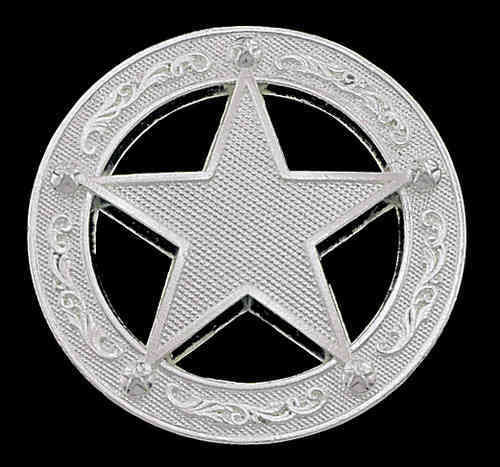 "Zügel Concha Paar ""Silver Star in Circle"""