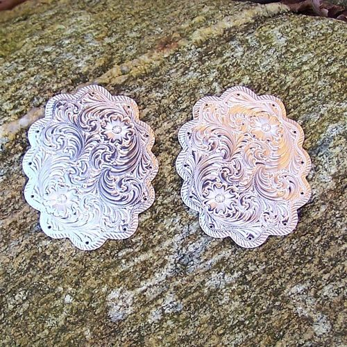 "Swell Plates ""Silver Flower with Flash Cut Edge"""
