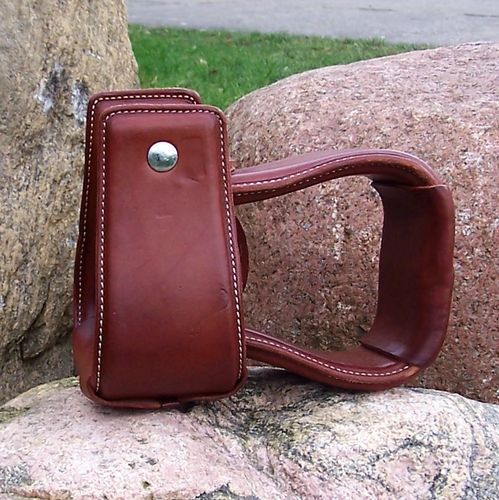 "Buckaroo Stirrups ""Big Plain Leather"""