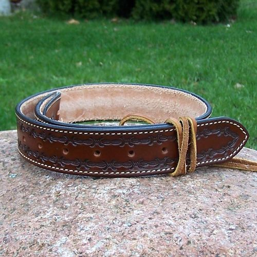 "Handmade Western-Leather Belt ""Twisted Wire"" to dimension in colors"