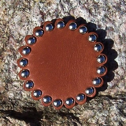 "Handmade Leather-Concho ""Spots"" in Variations"