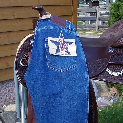 "Western-Jeans ""Saddle 1* Blue 30/ Long"" Cowboy Cut"