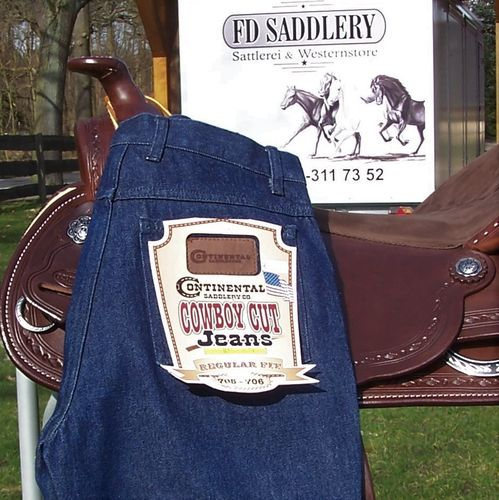 "Western-Jeans ""Continental Cowboy Cut"" Blue or Black"
