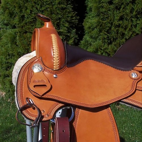 "FD Saddle Ladies Silver ""Light Pearl Border"""