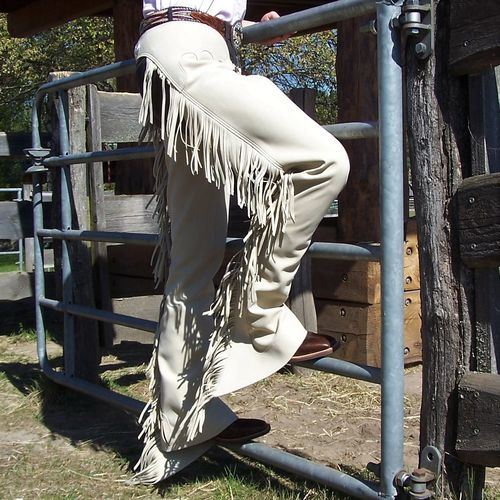 "Show Chaps ""Mikrofaser Creme/ Tan"" in Sizes"