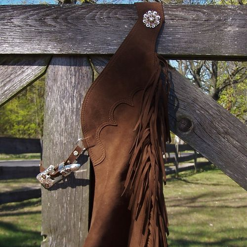 "Show Chaps ""Mikrofaser Brown"" in Sizes"