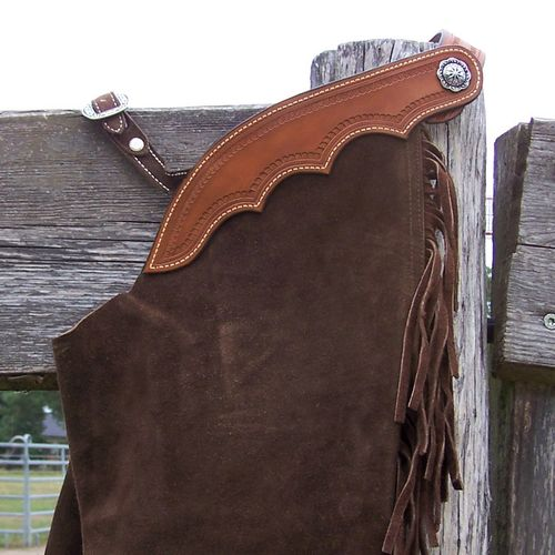"Wildleder Chaps ""Brown in Brown - Small"""