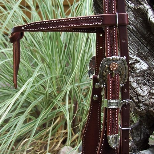 "Show-Kopfstück ""Buckaroo Tradition No.4 - Antique California"" Handmade"