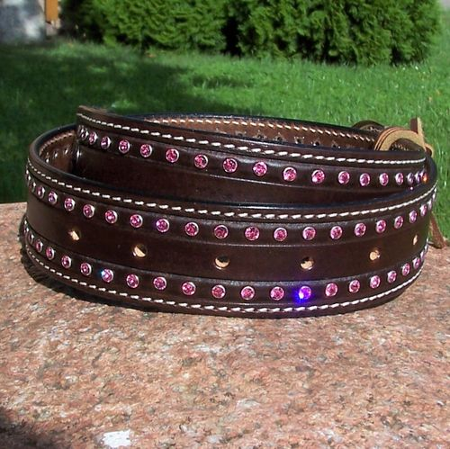 "Swarovski Leatherbelt ""Brilliant Art - Individual"" Handmade in Variations"