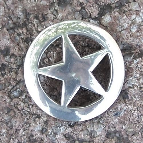 "Concho ""Plain Star in Circle"" in 1 1/4"""