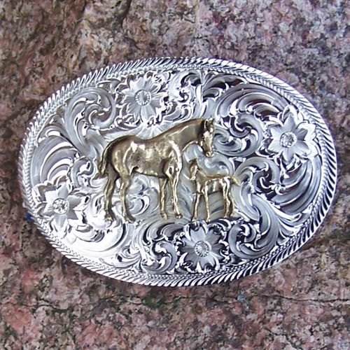 "Montana Silversmiths Buckle ""Little Luck"""