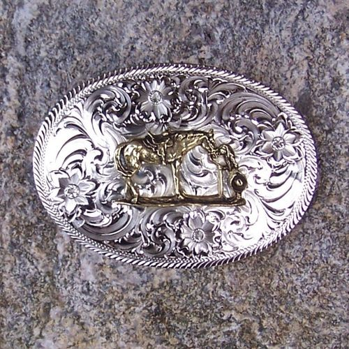 "Montana Silversmiths Buckle ""First Love"""