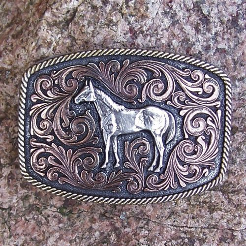 "Montana Silversmiths Attitude Tricolor Buckle ""Best Friend"""